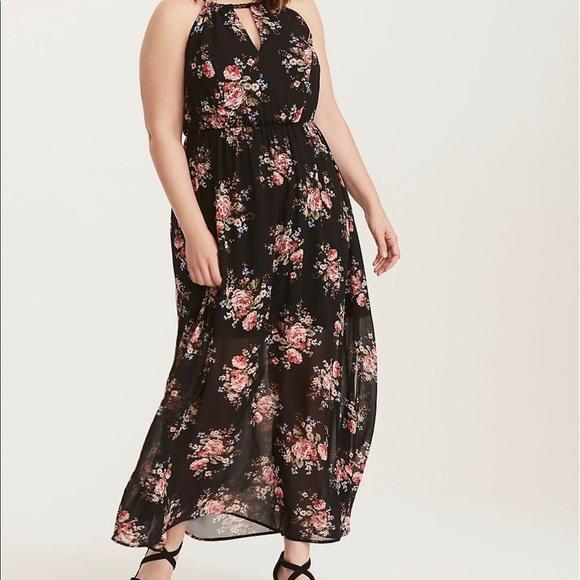 The Vanity Room Sleeveless Tie Dye Maxi Dress Keyhole Back Lined Plus Size 1X~3X